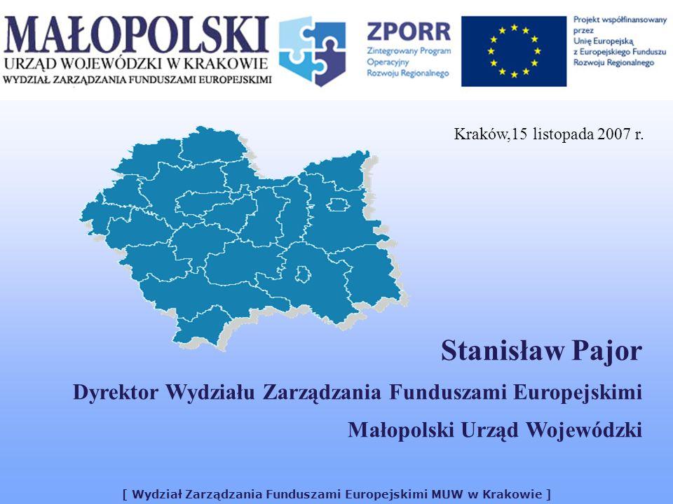 [ Wydział Zarządzania Funduszami Europejskimi MUW w Krakowie ]